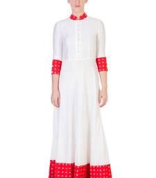 Buy Women's Designer Floor Length Dress With Red Details ganpati-dress online