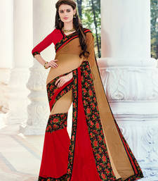 Buy multicolor embroidred georgette saree with blouse heavy-work-saree online
