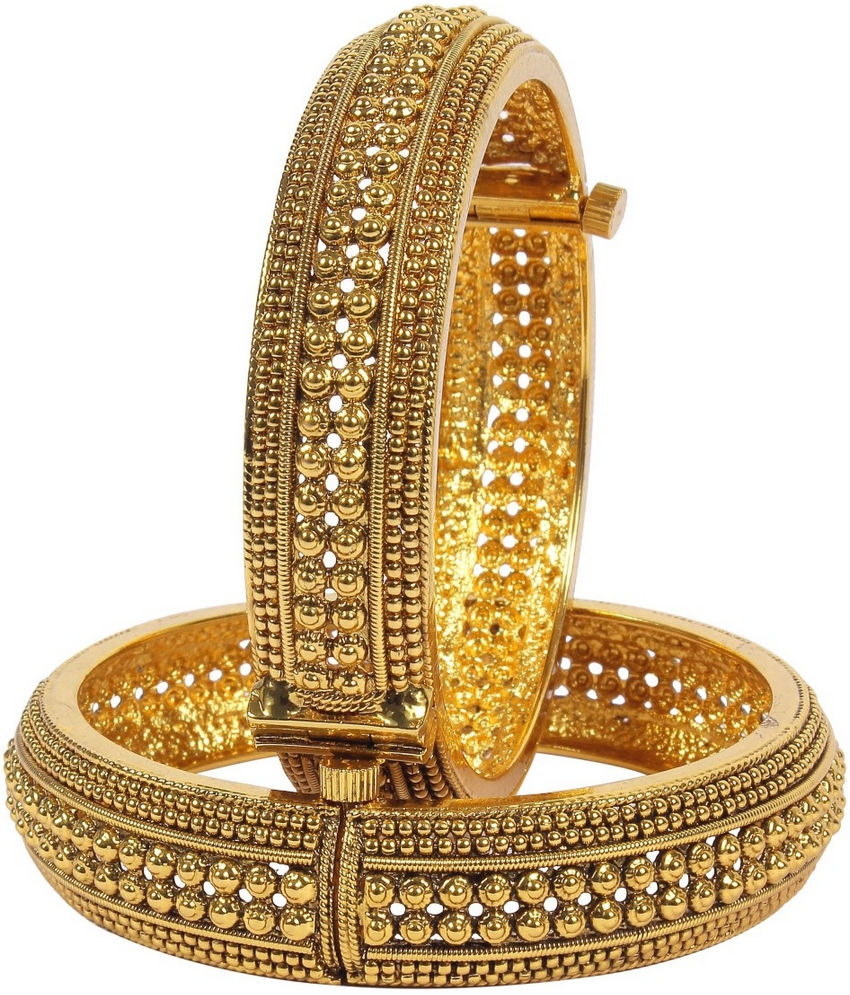 kada indian women par bangle traditional bangles imsm jewellery itm set lock goldtone screw