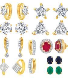 Buy Multicolor cubic zirconia earrings fashion-deal online