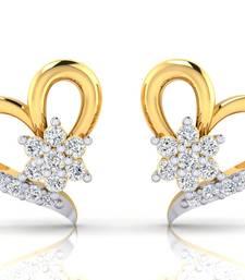 Buy 0.222ct Yellow Diamond gemstone-earrings gemstone-earring online