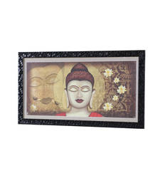 Buy Buddha 14 Inch X 25 Inch Abstract Art Print | Textured Frame | Ho... painting online