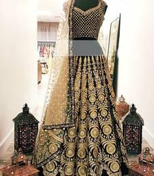 Buy Black georgette embroidered Lehenga Choli lehenga-choli online