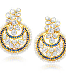 Buy Stunning Gold Plated Chandbali Earring For Women danglers-drop online
