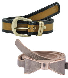 """Buy """" Yellow and Red Color"""" Belt Combo For Womens gifts-for-sister online"""
