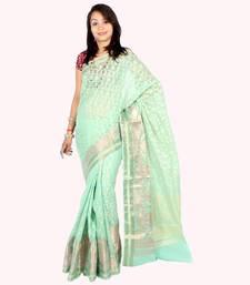 Buy Supernet Fancy Zari Patola Saree patola-saris online