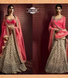 Buy Grey embroidered net unstitched lehenga bridal-lehenga online
