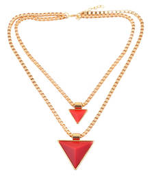 """Buy """" Red Triangles Of Style"""" Statement Necklace"""" collar-necklace online"""