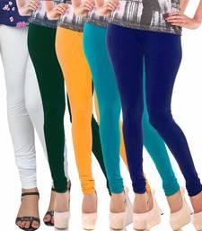 Buy Multicolor Churidar Komal 5Pc Cotton Leggings fashion-deal online