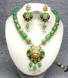 Buy kundan meenakari jewellery necklace-set online
