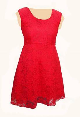 Red Hot Western Designer Dress