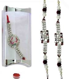 Buy Eye-catching of three american diamond bracelet rakhis bracelet-rakhi online