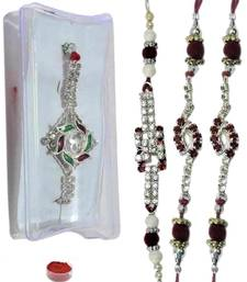 Buy Eye-catching of four ad and bracelet rakhis bracelet-rakhi online