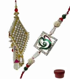 Buy Handsome of ad rakhi and pearl lumba rakhi-international online