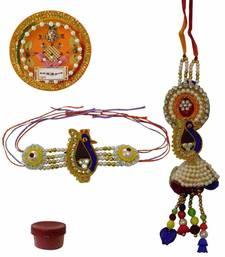 Buy Stylish and extraordinary bhaiya bhabhi rakhi with thali bhaiya-bhabhi-rakhi online