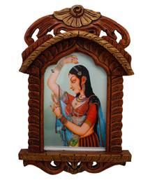 Buy Jaipuri Lady Bani Thani Wooden Jharokha Gift photo-frame online