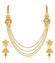 Buy Gold crystal necklace-sets necklace-set online