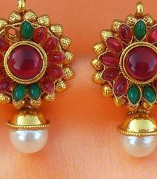 Buy lovely kempu earrings stud online