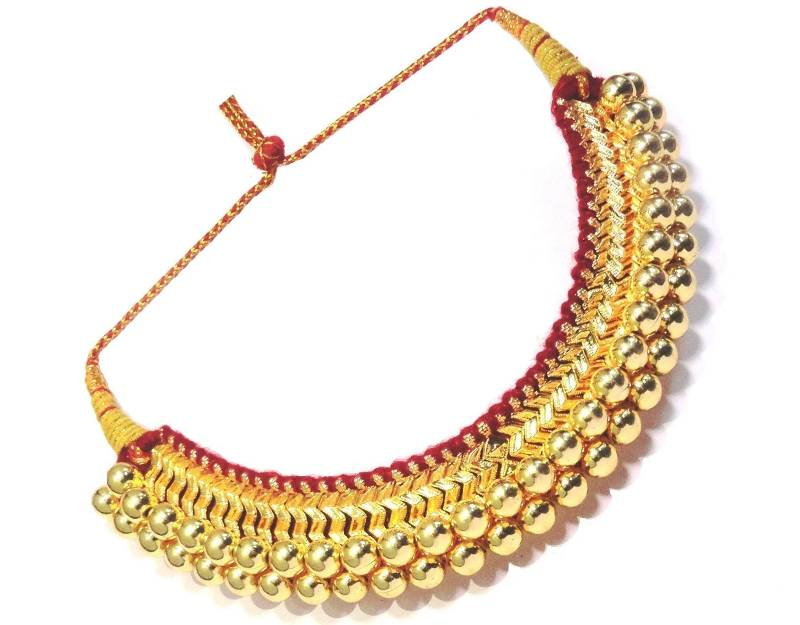 Buy Big Thushi Traditional Maharashtrian Necklace Online