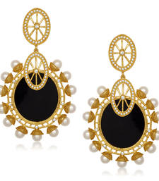 Buy Black Pearl danglers-drops Woman online