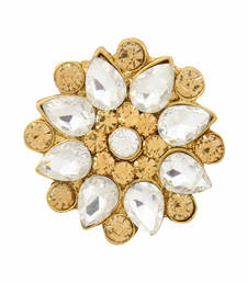 Buy White crystal rings Ring online