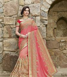 Buy Multicolor  embroidered Georgette Net  saree with blouse georgette-saree online