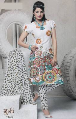 Dress Material Cotton Designer Prints Unstitched Salwar Kameez Suit D.No 10032