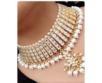 Square Kundan Choker Necklace