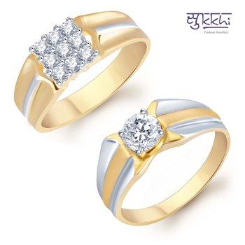 Sukkhi Blossomy 2 Piece Ring Combo for Men(231CB1040)