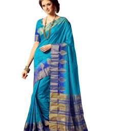 Buy Blue hand woven art silk sarees saree with blouse art-silk-saree online