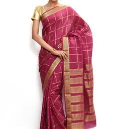 Buy Sudarshan silks saree Wonderful Pure Mysore silk saree-Pink-SSSB121-VQ-Crepe mysore-silk-saree online
