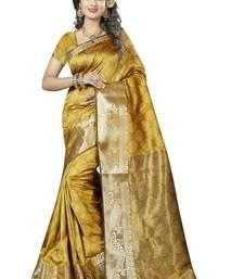 Buy Nirja creation Yellow fancy partywear cotton banarasi saree jacquard-saree online