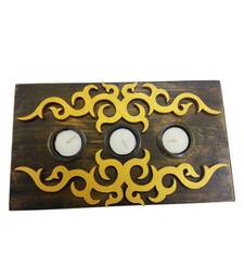 Buy Brown & Golden Platter Candle Holders candle online