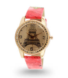 Buy Pink stainless steel watches watch online