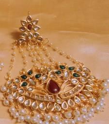 Buy rajwara kundan gold plated wedding pasa pakistani-jewellery online