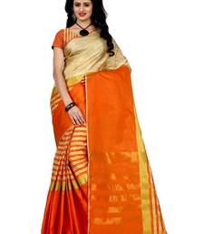 Buy multicolor printed cotton saree with blouse jacquard-saree online