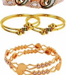 Buy Gold plated necklace sets bangles-and-bracelet online