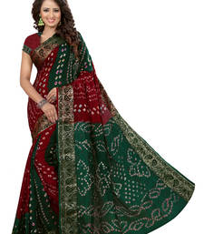 Buy Multicolor printed georgette saree with blouse patola-sari online