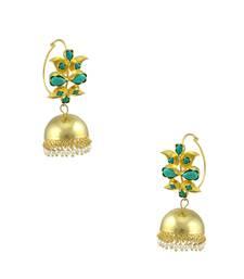Buy Turquoise Blue Traditional Jhumki Earrings Jewellery for Women - Orniza jhumka online