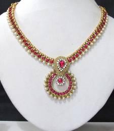 Buy Pink stone necklace sets necklace-set online