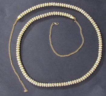 White stone waist belt