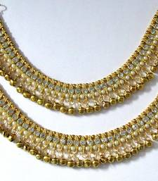 Buy Gold stone anklets fashion-deal online