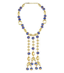 Buy Gold Color Ranier Bead Necklace for Women Necklace online