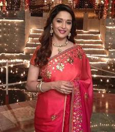 Buy bollywood replica madhuri dixit colorfull saree madhuri-dixit-saree online