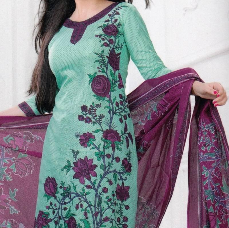 Buy Dress material cotton designer prints unstitched ...