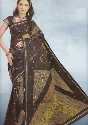 Sarees Cambric Cotton Designer Prints With Blouse Piece D.No 903
