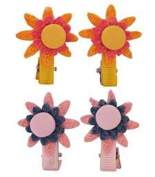 Buy 4 Tic Tac Hair Clips Yellow Pink Dailywear Schoolwear hair-accessory online