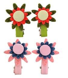 Buy 4 Tic Tac Hair Clips Green Pink Dailywear Schoolwear hair-accessory online