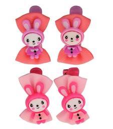 Buy 4 Tic Tac Hair Clips Pink Dailywear Schoolwear hair-accessory online
