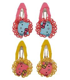 Buy 4 Tic Tac Hair Clips Pink Yellow Dailywear Schoolwear hair-accessory online